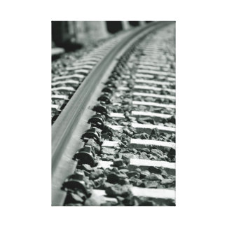 Railroad tracks impresión en lienzo