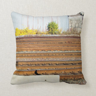 RAILROAD TRACKS IN FALL  PILLOW