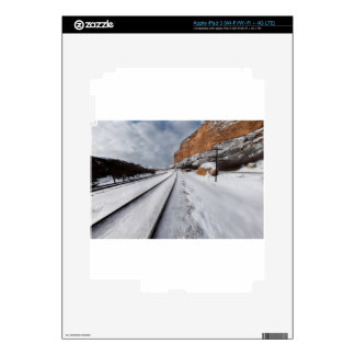 Railroad tracks in the valley iPad 3 skins
