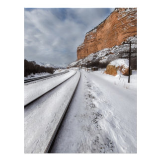 Railroad tracks in the valley letterhead