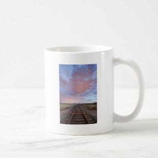 Railroad Tracks Into the Sunset Coffee Mugs