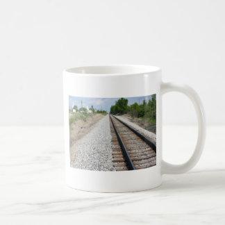 Railroad tracks mugs