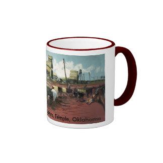 Railroad Tracks Mural 1910 Coffee Mug