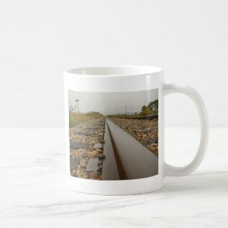 Railroad Tracks on a Rainy Day Coffee Mug