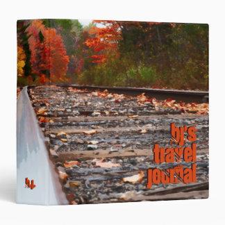 "Railroad Tracks Painting 1.5"" Custom Travel Binder"