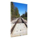 Railroad Tracks Photo Stretched Canvas Print 2 Stretched Canvas Print