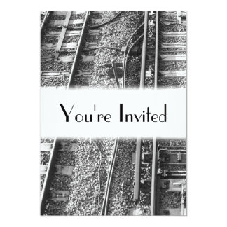 Railroad Tracks Picture. Card