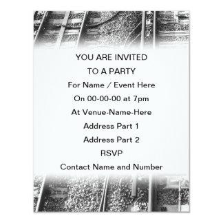 """Railroad Tracks Picture. 4.25"""" X 5.5"""" Invitation Card"""