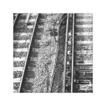 Railroad Tracks Picture. Stretched Canvas Prints
