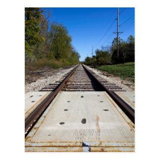 Railroad Tracks Postcard Post Card