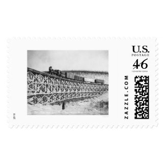 Railroad Train Bridge Alaska 1916 Stamp