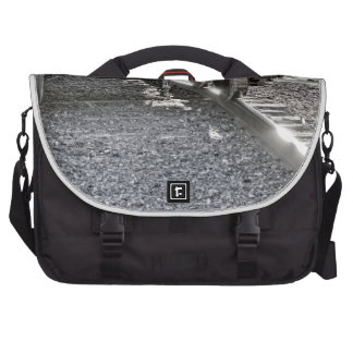 Railroad Train Car Wheels Hitting the Tracks Laptop Bag
