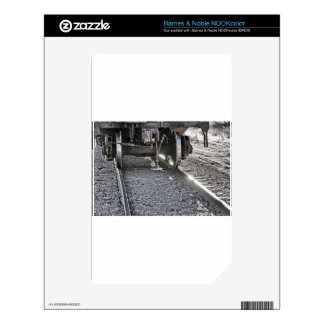 Railroad Train Car Wheels Hitting the Tracks Skins For NOOK Color