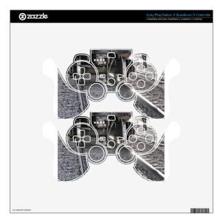 Railroad Train Car Wheels Hitting the Tracks Skins For PS3 Controllers