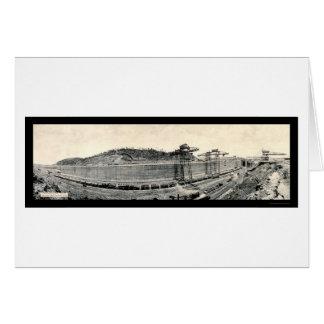 Railroad Train Panama Canal Photo 1913 Card