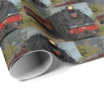 Railroad/Train Pattern Gift Wrapping Paper
