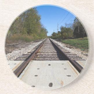 Railroad Train Tracks Photo Coaster