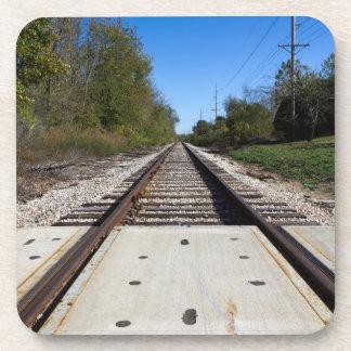 Railroad Train Tracks Photo Coasters