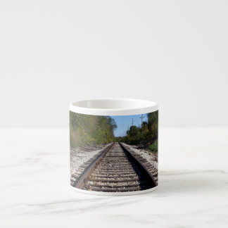 Railroad Train Tracks Photo Espresso Cup