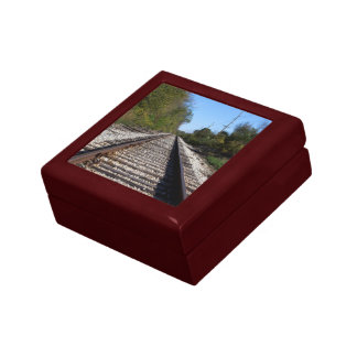 Railroad Train Tracks Photo Jewelry Box