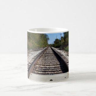 Railroad Train Tracks Photo Coffee Mug