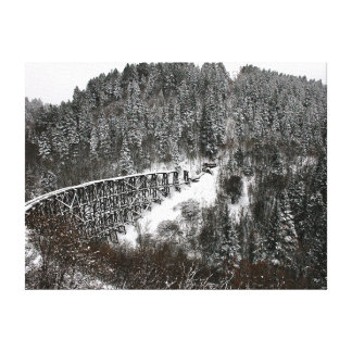 Railroad Trestle at Cloudcroft New Mexico Canvas Print