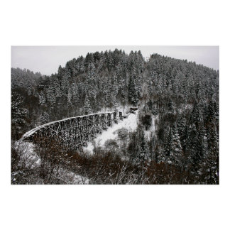 Railroad Trestle at Cloudcroft New Mexico Print