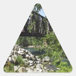Railroad Trestle Triangle Sticker