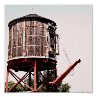 Railroad Water Tower at the Stockyards Poster