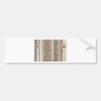 Railroad Wood Texture and Red Bolts Bumper Sticker