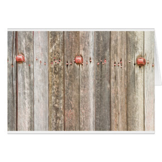 Railroad Wood Texture and Red Bolts Card