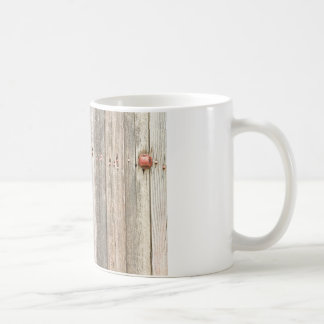 Railroad Wood Texture and Red Bolts Coffee Mug