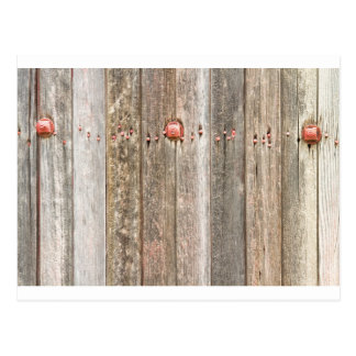 Railroad Wood Texture and Red Bolts Postcard