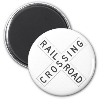 RailroadCrossing Sign Magnet