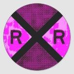 Railroadiana Etiquetas Redondas