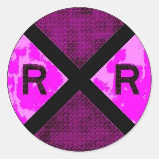 Railroadiana Classic Round Sticker