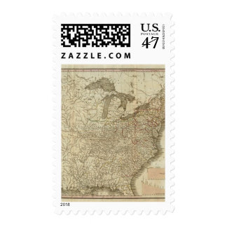 Railroads and Canals in the United States Postage