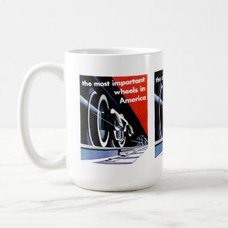 Railroads- Most Important Wheels in America Coffee Mug