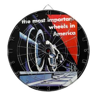 Railroads-Most Important Wheels in America Dartboard