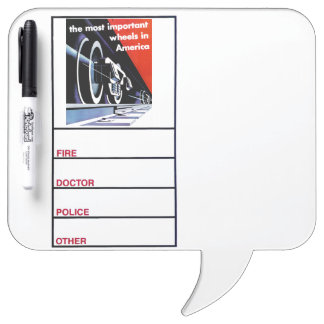 Railroads-Most Important Wheels in America Dry-Erase Whiteboard