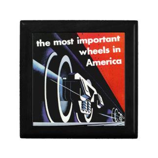 Railroads-Most Important Wheels in America Trinket Boxes