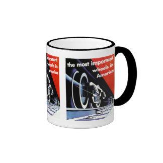 Railroads-Most Important Wheels in America Coffee Mugs