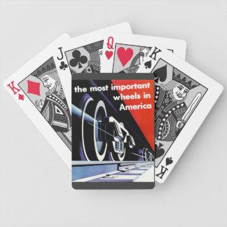 Railroads- Most Important Wheels in America Poker Deck