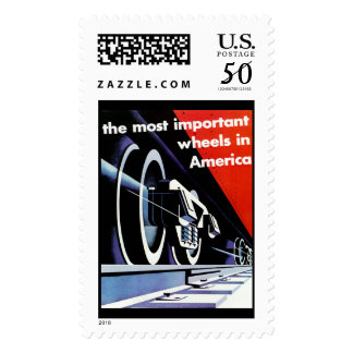 Railroads-Most Important Wheels in America Postage