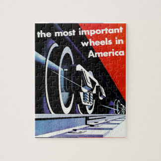 Railroads-Most Important Wheels in America Jigsaw Puzzle