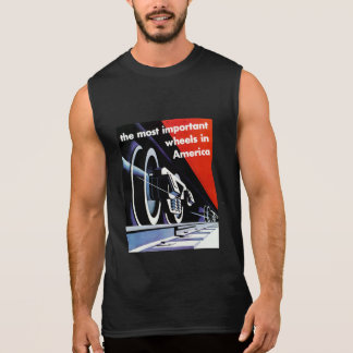 Railroads-Most Important Wheels in America Sleeveless Shirt