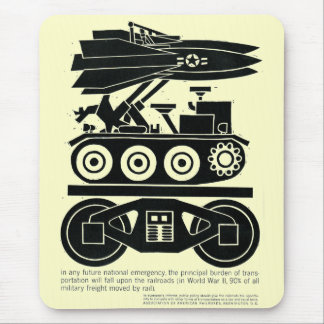 Railroads Moved 90% of all Freight in World War 2 Mouse Pad