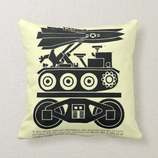 Railroads Moved 90% of all Freight in World War 2 Pillow