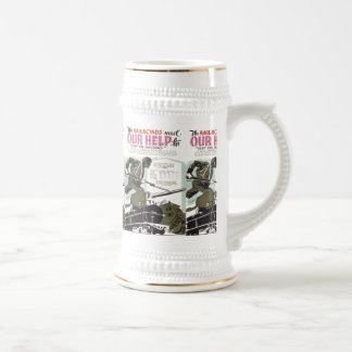 Railroads Need Our Help Beer Stein