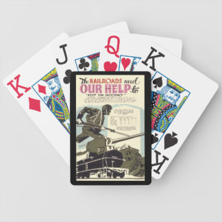 Railroads Need Our Help Bicycle Playing Cards